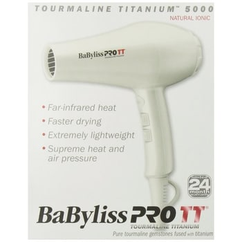 BaBylissPRO Tourmaline Titanium 5000 Hair Dryer Packaging