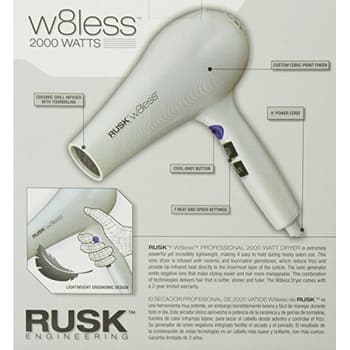 RUSK Engineering W8less Professional Hair Dryer Packaging